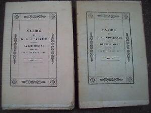 1838-SATIRE-DI-GIOVENALE-DI-ZEFIRINO-RE-DA-CESENA-LETTERATURA-LATINA-DUE-VOLUMI