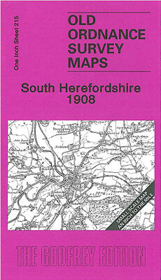 Old Ordnance Survey Map  South Herefordshire  /& Map Kilpeck 1908 Sheet 215 New