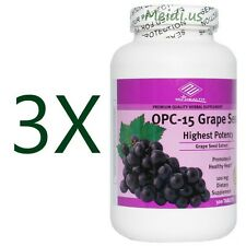 3x OPC-15 Grape Seed Extract 300 Tablets Highest Potency, Promotes Healthy Heart