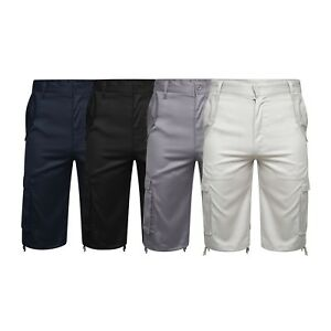 Homme-Combat-Cargo-Chino-type-Ete-3-4-Shorts-en-Polyester-Taille-30-034-TAILLE-50-034