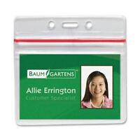 Baumgartens Sealable Id Card Holders Horizontal 3-3/4x2-5/8 50/pk Cl 47830