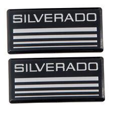 2pcs Silverado Cab Emblem Badge Side Roof Pillar Decal Plate Fits Chevy 1988 98