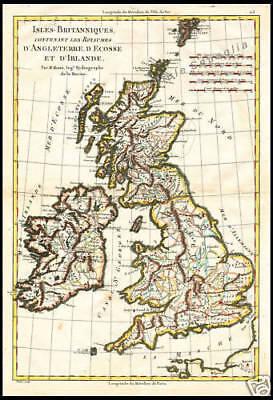 Cartina Stradale Gran Bretagna.Carta Geografica 1700 Inghilterra Scozia Irlanda Isole Ebay