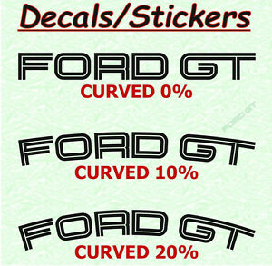 Image Is Loading  X Ford Gt Decal Sticker Brake Caliper