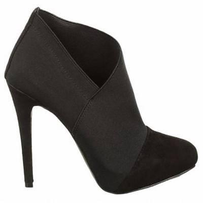 Women/'s Shoes Jessica Simpson NEESHA Asymmetrical Platform Shooties Suede Black