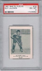 1951-Bas-Du-Fleuve-Hockey-Card-Matane-16-Guy-Lalonde-Graded-PSA-6