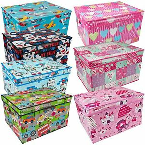 Large Kids Storage Box Childrens Toy Chest Clothes Laundry Bedding