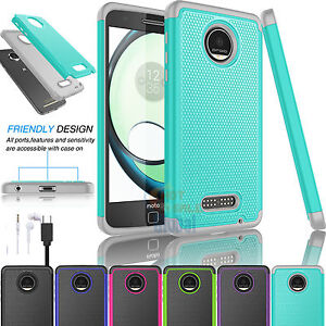 Hybrid-Rugged-Rubber-Hard-Case-Cover-for-Motorola-Moto-Z-Play-Moto-Z-Play-Droid