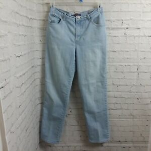 Gloria-Vanderbilt-Amanda-Size-10-Average-Womens-Stretch-Light-Wash-Denim-Jeans