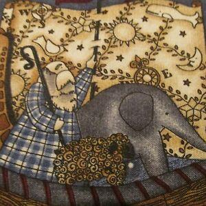 Debbie-Mumm-scrap-piece-cotton-fabric-remnant-Noahs-Ark-Nursery-FQ-choose