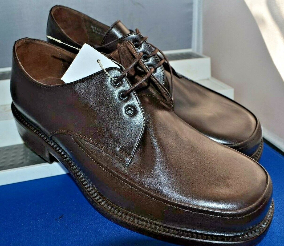 DOLCIS (Made in ) RETRO VTG braun TWIN DERBY STURDY WORK schuhe UK 11 EU 45