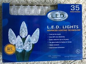 Details About Forever Bright Clear White L E D Led Christmas Lights 35 Bulbs Indoor Outdoor