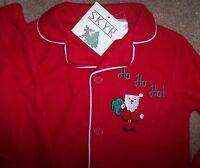 Skyr Red Lightweight Fleece Pajama Set 4 Boys Santa Claus Xmas Ho Green Soft