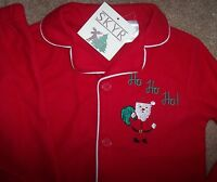 Skyr Red Lightweight Fleece Pajama Set 5 Boys Santa Claus Xmas Ho Green Soft