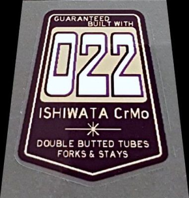 Dark Purple sku Ishi808 Ishiwata 022 Frame Decal