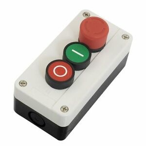 NC-Emergency-Stop-NO-Red-Green-Push-Button-Switch-Station-600V-10A-WD