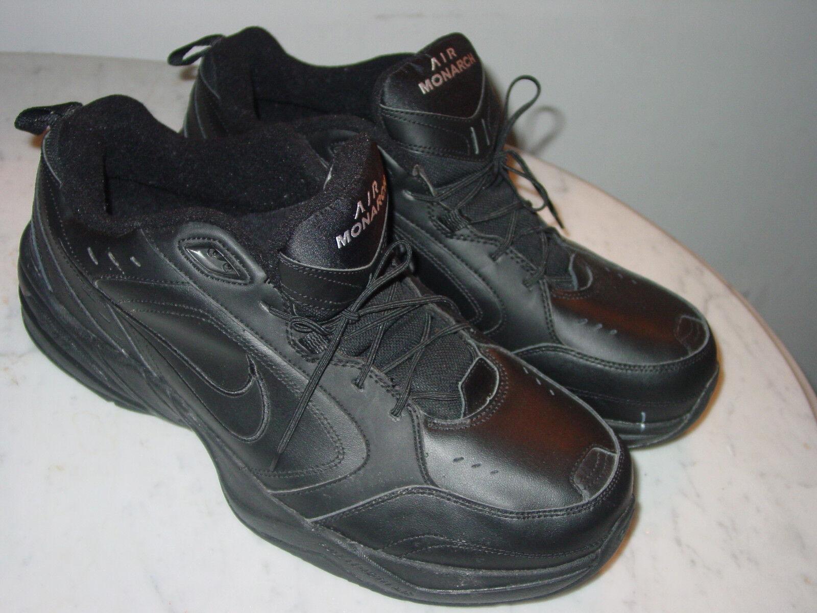 2010 Nike Air Monarch IV Black Running Shoes! Comfortable Cheap women's shoes women's shoes