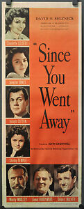 Seit-Du-Went-Away-R-1948-Orig-14X36-Film-Poster-Claudette-Colbert
