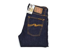 Nudie-Jeans-Tube-Tom-Organic-Twill-Rinsed-Blau-Baumwolle-111455-Skinny-Neu
