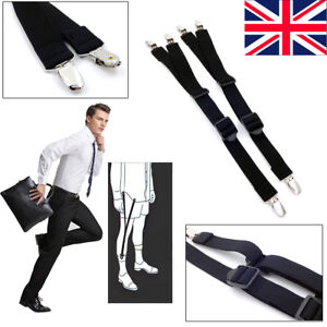 Mr.Fashion Mens Shirt Stays Garters Suspenders Shirt Holder Straps Non-slip Locking Clamps