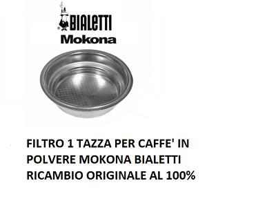FILTRO PER 1 TAZZA MOKONA BIALETTI GAGGIA G107 CAFFE ESPRESSO NO ORIGINALE