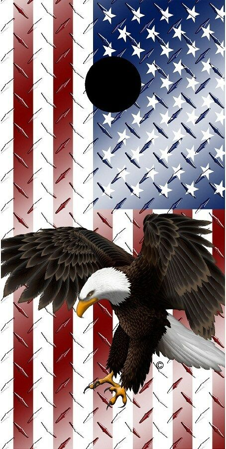 American flag diamond plate metal eagle cornhole baord game decal wraps