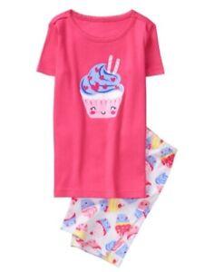 NWT Gymboree Sz 6 Striped Multi-Color Short Sleeve Gymmies Pajamas PJs Girls NEW