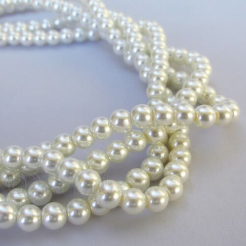 300 Or 600PCs White Imitation Pearl Beads 6mm Bulk Glass Pearl Beads G2540-150