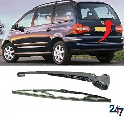 NEW VW SHARAN 2000-2010 REAR WINDOW WIPER ARM AND 400MM BLADE SET
