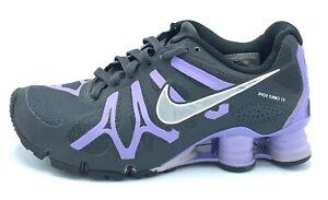 Nike-Shox-Turbo-13-Womens-Size-6-Running-Shoes-Black-Purple-525156-005-EUC