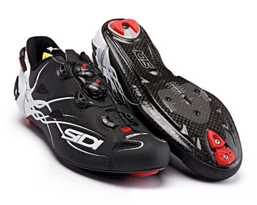 Matt Black//White SIDI SHOT Carbon Road Cycling Shoes