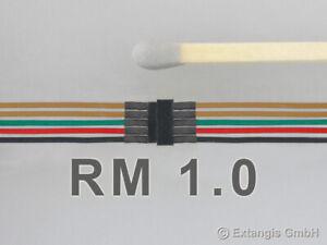 Mini-Steckerset-5-polig-mit-Litze-Farbkodierung-Steckverbinder-connector-NMRA
