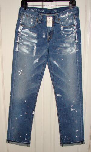 Crew 100 Vintage Slim Bomuldsmaler 26r 168 Nwt 23397 J Vask Jeans Sz 1wIqx7p50