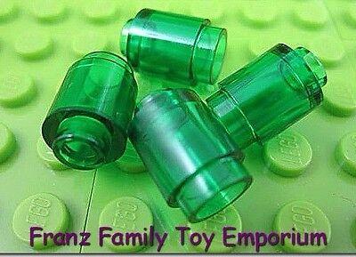 New LEGO Lot of 4 Green 1x1 Brick Cone Parts