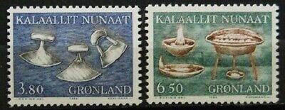 2 Werte 165-166 73 ................. EntrüCkung Briefmarken Dk Grönland Postfrisch Minr