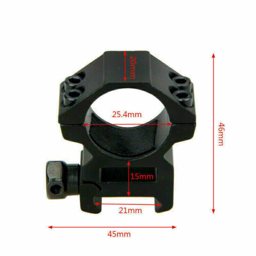 Tactical Weaver Picatinny Pressure Mount Rifle Scope Rings 25.4mm//30mm//High//Low