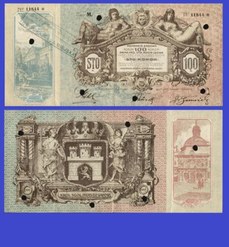Poland 100 Koron 1915 Lwow UNC - Reproduction