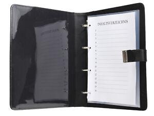 Felex-Office-Schreibmappe-A4-Konferenzmappe-Vertretermappe-schwarz