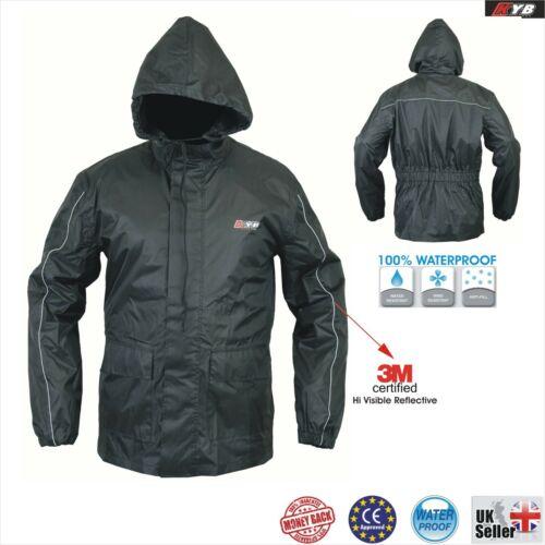 KYB Unisex Mens Ladies Waterproof Rain Jacket Coat Lightweight Packable Workwear