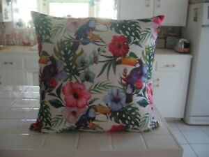 Beautiful Rodeo Home Hawaiian Print Decorator Throw Pillow With