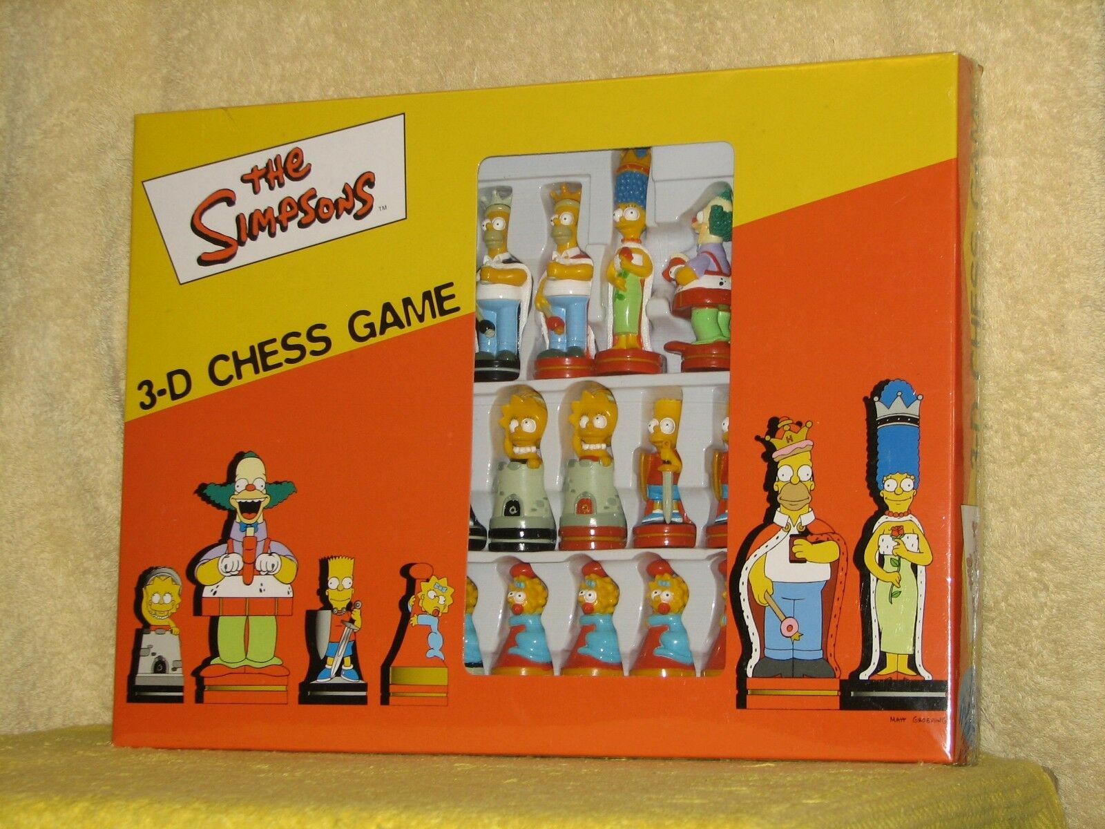 2000 Character Games THE SIMPSONS 3-D CHESS Board Game NEW+SEALED UK Homer Bart