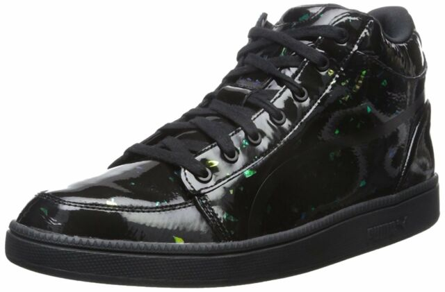 4e7ec2181ed PUMA McQ Serve Mid Mens Black Leather High Top Lace up SNEAKERS Shoes 10
