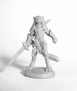 1x-Catfolk-Krieger-bones-Reaper-Miniatur-RPG-Fan-Favorites-Krieger-Katze-44000