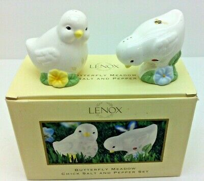 Lenox Butterfly Meadow Chick Salt And Pepper Shakers Ebay