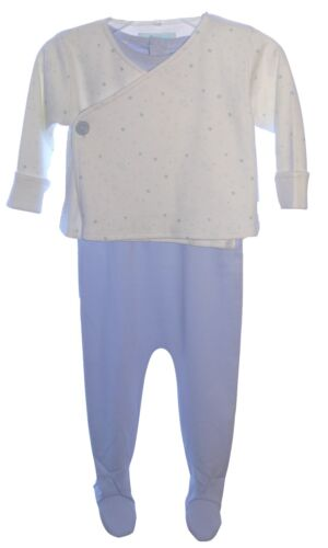 Marie Chantal 100/% Prima Cotton Blue Babygrow Jacket Age 9 Mths 6-9 NWT
