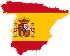 Pegatina sticker Adesivi adhesivo vinilo coche moto bandera mapa espana