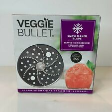 New Veggie Bullet Accessory Snow Cone Shave Ice Maker Steel Blade