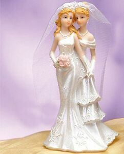 Wedding Presents For Gay Couples Uk : ... Wedding-Cake-Topper-Romance-Gay-Partner-Couple-Centerpiece-Favor-Gift