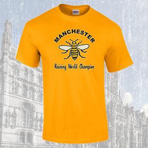 Manchester-Arbeiter-Biene-Regen-World-Champion-T-Shirt-Farbauswahl