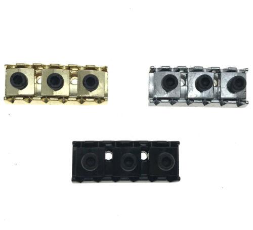 42mm Guitar Locking Nut String Lock for Floyd Rose Guitar Chrome//Black//Gold